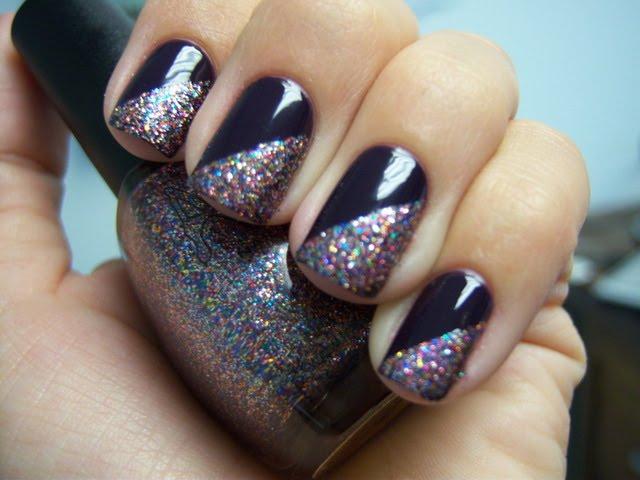 NOTD - China Glaze VIII w/ Amour Rain Glitter - Tips ...