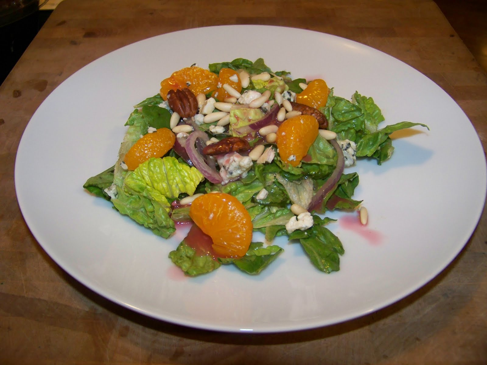 lettuce salad with mandarin oranges