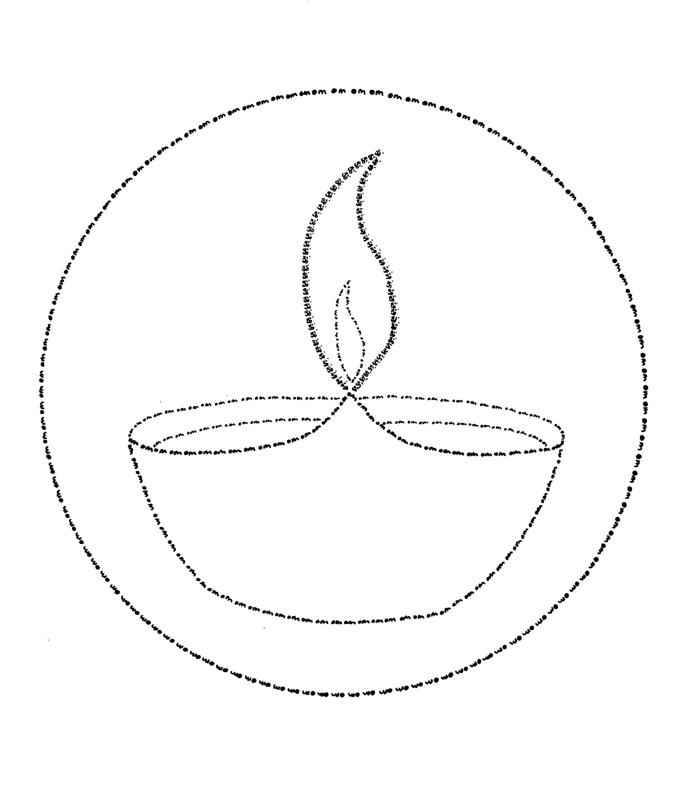 diya pages for coloring   Art & Craft Projects: Diya (Drawn in OM)