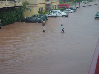 Últimas chuvas do ano em Bissau