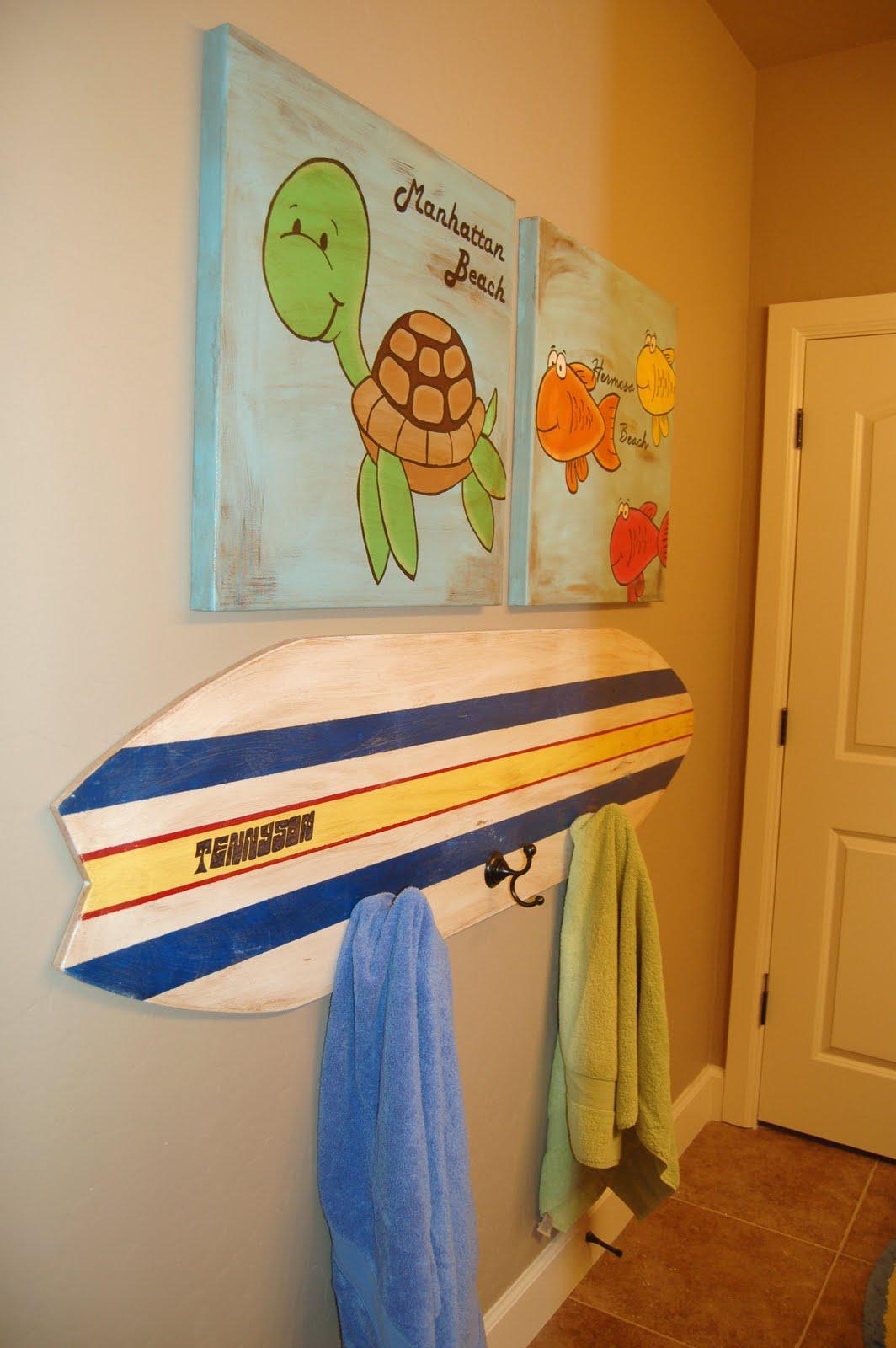 Home Design Ideas Surfboard Bathroom Decor