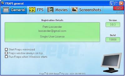 Download full free registered Fraps 3 0 3