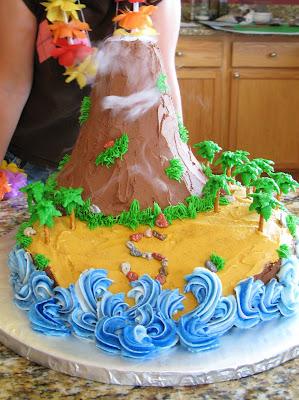 The BakeOff Flunkie The Island Volcano Cake