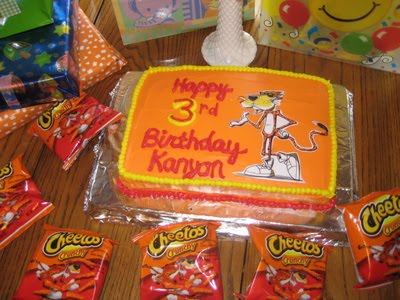 Cheetos Birthday Cake
