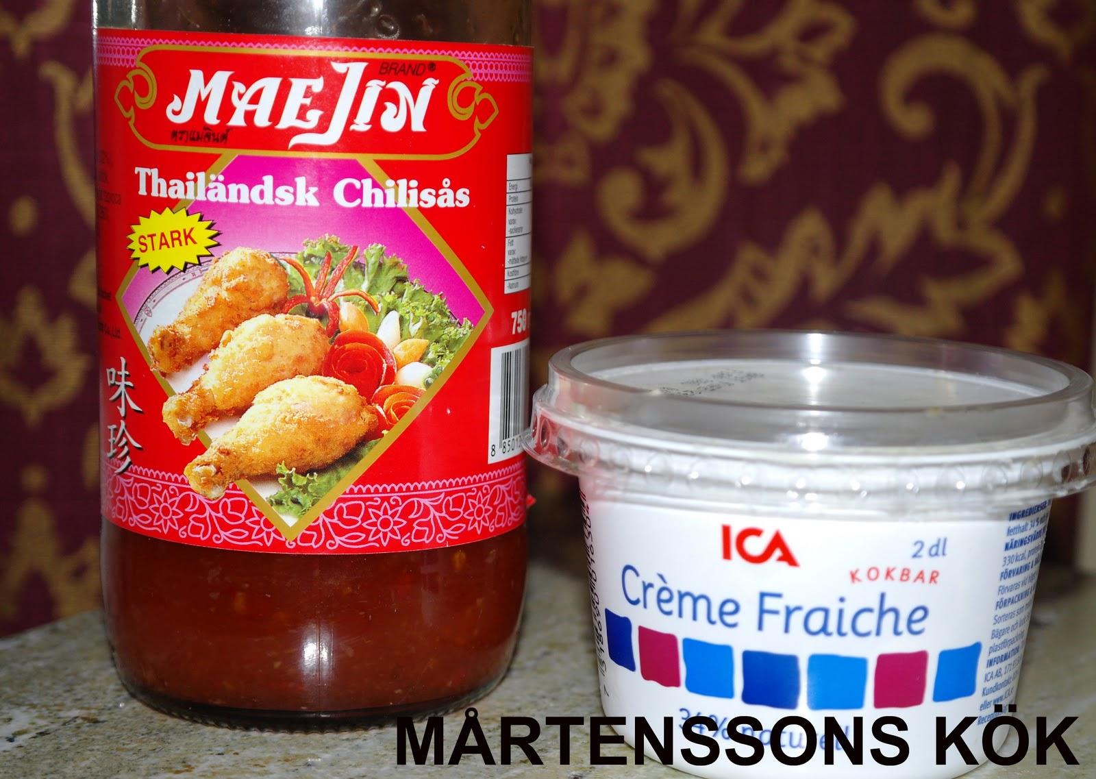 sweet chilisås creme fraiche