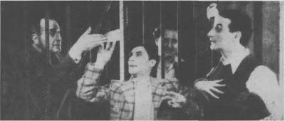 Enrique Delfino con Hector Quintanilla filmando Ronda de Estrellas en 1938