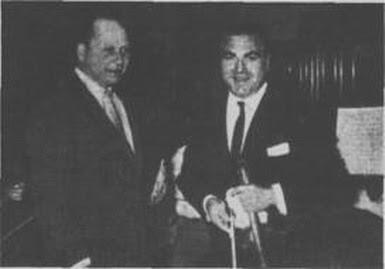 Hector Stamponi con Enrique Mario Francini