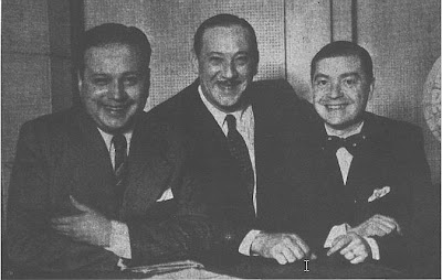 Cayetano Puglisi, Juan Carlos Cobian y Ciriaco Ortiz en 1935
