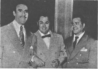 Aldo Calderon(Der), Edmundo Rivero y Anibal Troilo