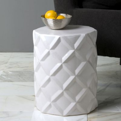 Clayton Gray Home Quilted Ceramic Stool Copycatchic