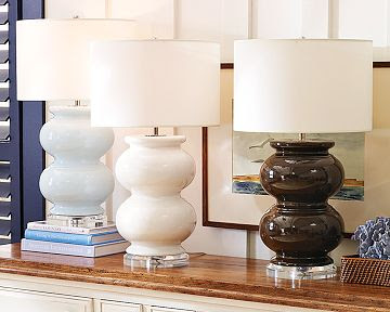 Copy Cat Chic Williams Sonoma Home Porcelain Pearl Lamp