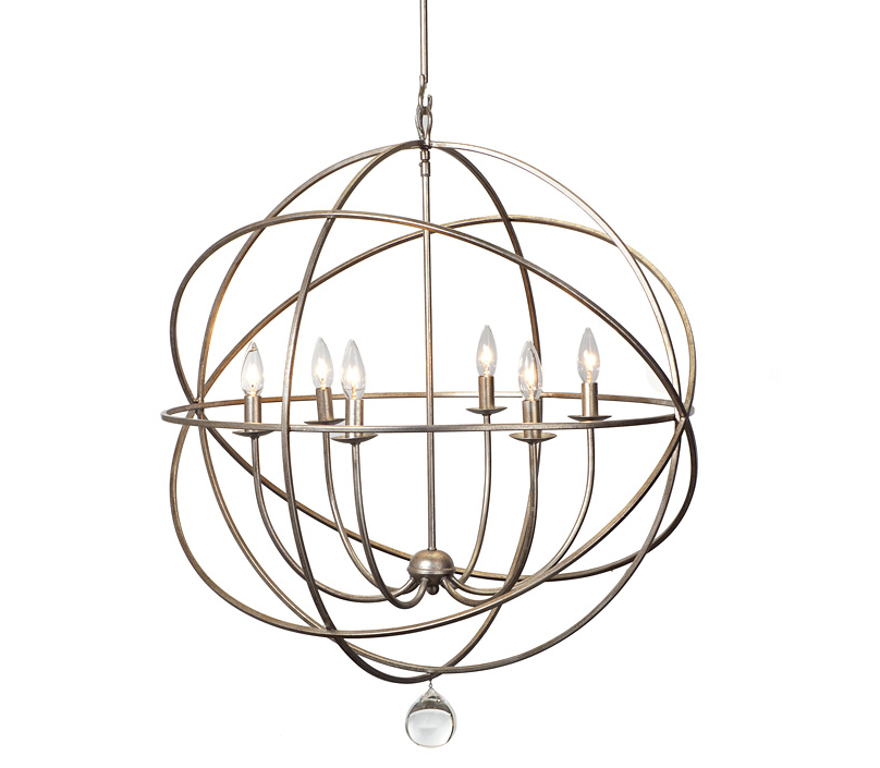 Iron Orb Chandelier Home Decor