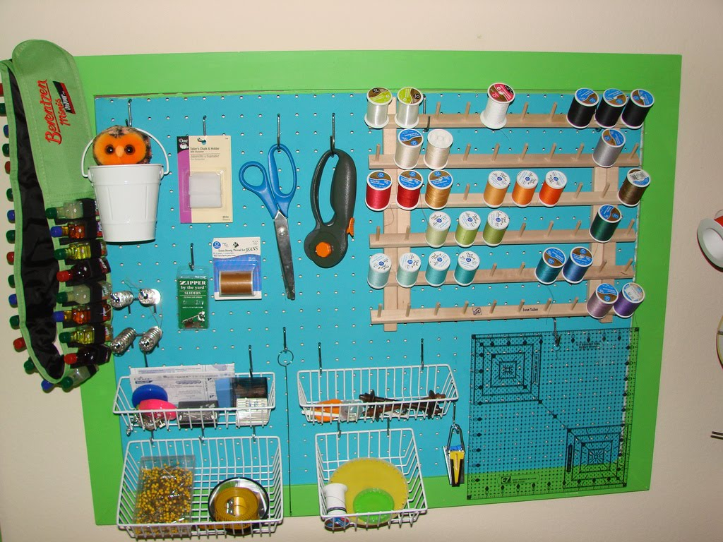 Sewing Room Designs: By Your Hands: Sewing Room Organization