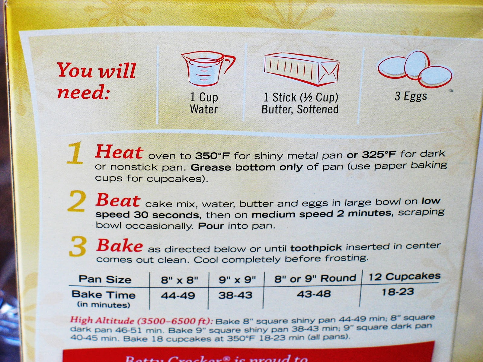 Pillsbury White Cake Mix Ingredient List