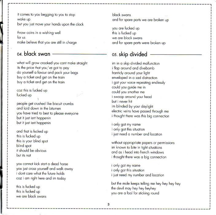 Lyric black lyrics : the eraser lyrics