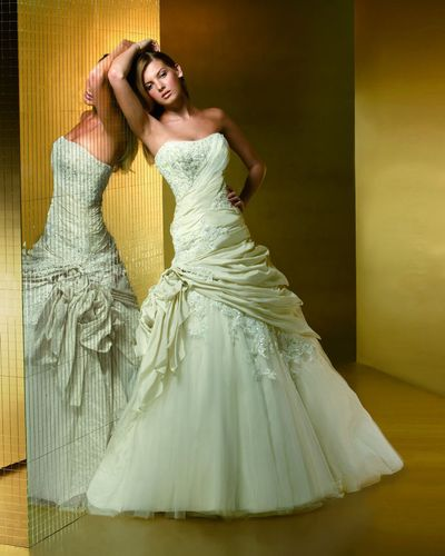 Delightful bride wedding dressing