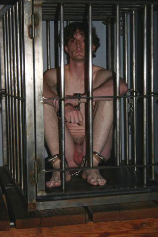 bdsm slave cage gagged gay