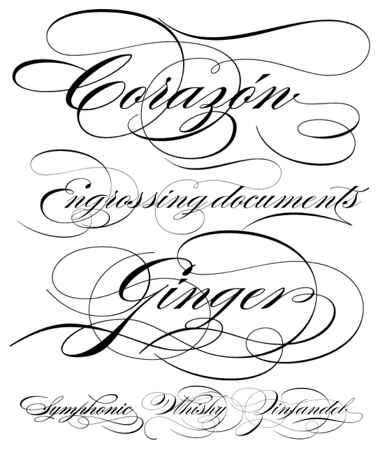 Olive and Emerald: {the little things} calligraphy fonts