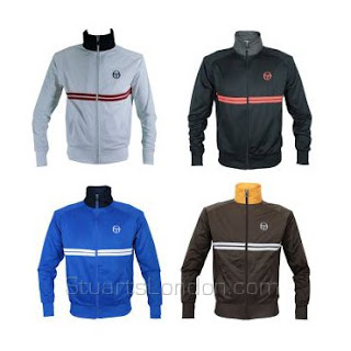 60b368f924af ... Sergio Tacchini Dallas track top that we've all seen worn by Danny Dyer  in 'The Business'. Navy blue with a red funnel neck and white chest  stripes, ...