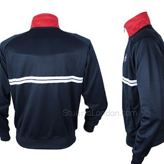 9ae56e9b1831 Here's a great new colourway for the Sergio Tacchini Dallas track top that  we've all seen worn by Danny Dyer in 'The Business'. Navy blue with a red  funnel ...