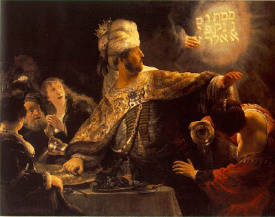 Belshazzars Feast by Rembrandt