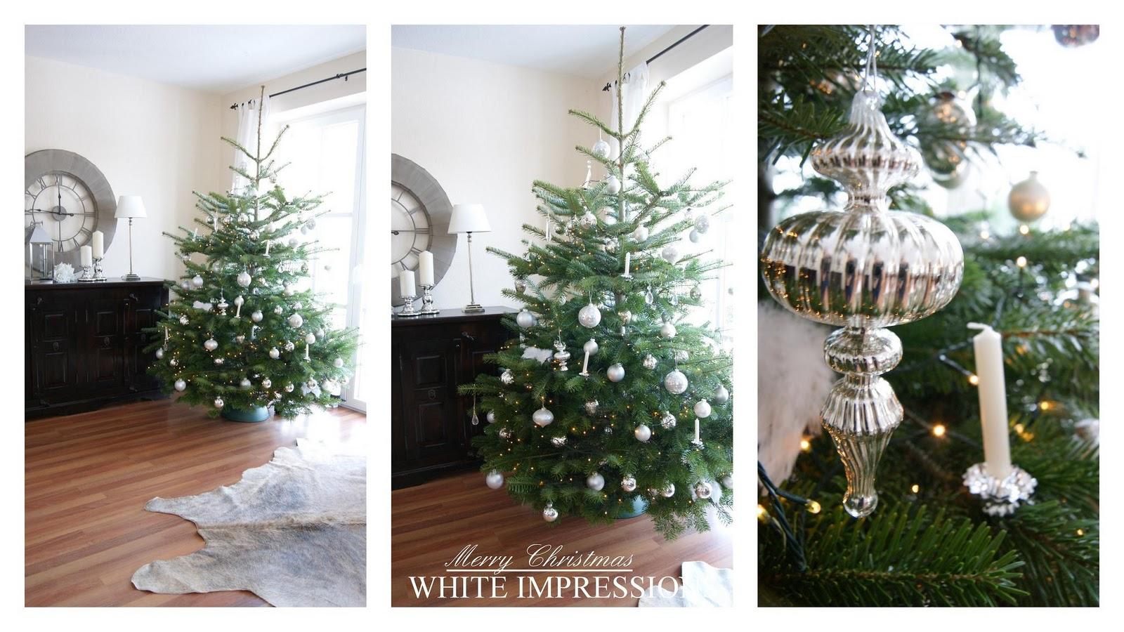 Bauernsilber Weihnachtsdeko.White Impressions Dezember 2010