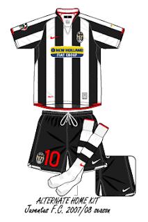 828c36b9324 Football teams shirt and kits fan  Juventus FC Serie A 2007-08 ...