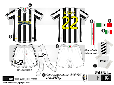 a6c2e6906 Juventus  new home shirt for the 09 10 season has emerged showing the  club s traditional black and white stripes. Shirt is an official Nike ...