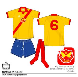 Selangor FC retro Admiral kits in the year 1979 season 75bd6c3bf
