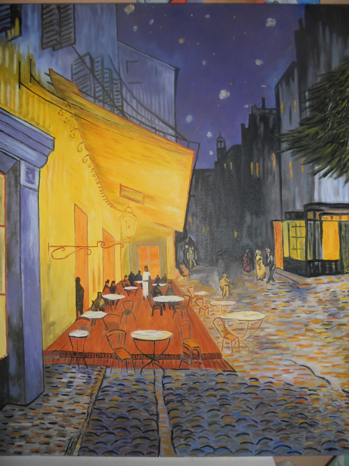 Creaciones Y Pinturas Rous Cuadro Van Gogh Terraza De