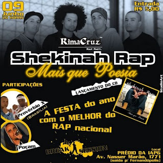 cd shekinah rap mais que poesia