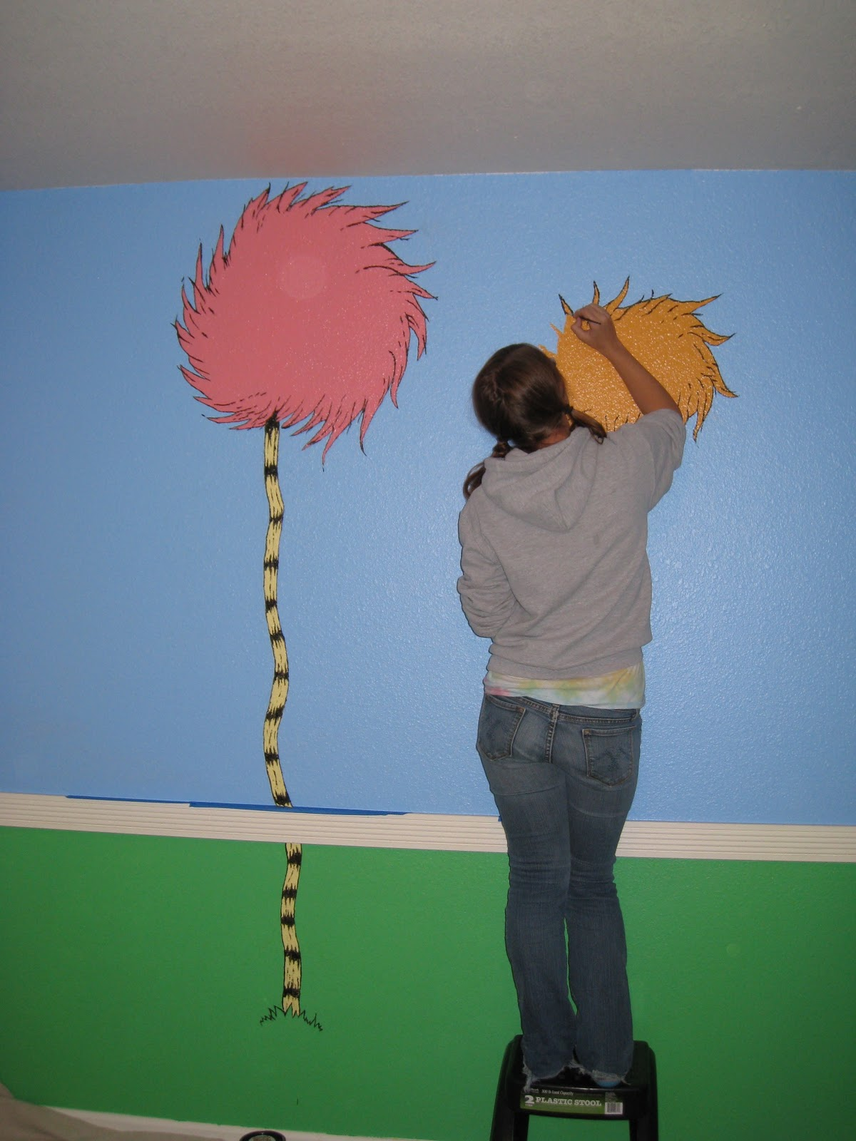 The Reno Sparks Mom Diy Dr Seuss Lorax Nursery Mural