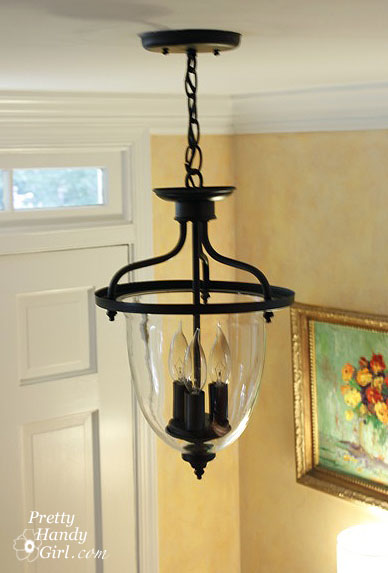 Foyer Lighting Jobs : A new old foyer light pretty handy girl
