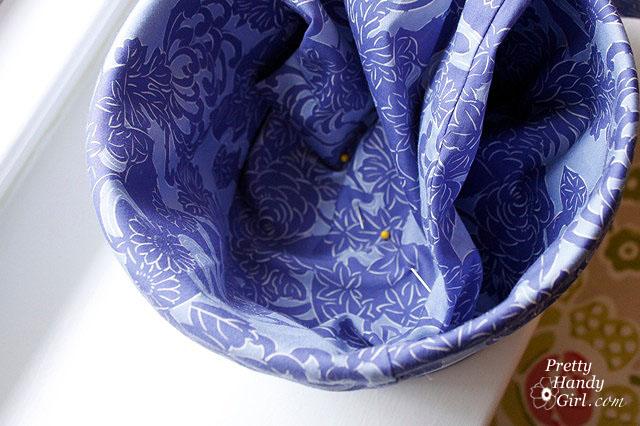Goodwill Pants Make a Cute Bucket Liner - Pretty Handy Girl