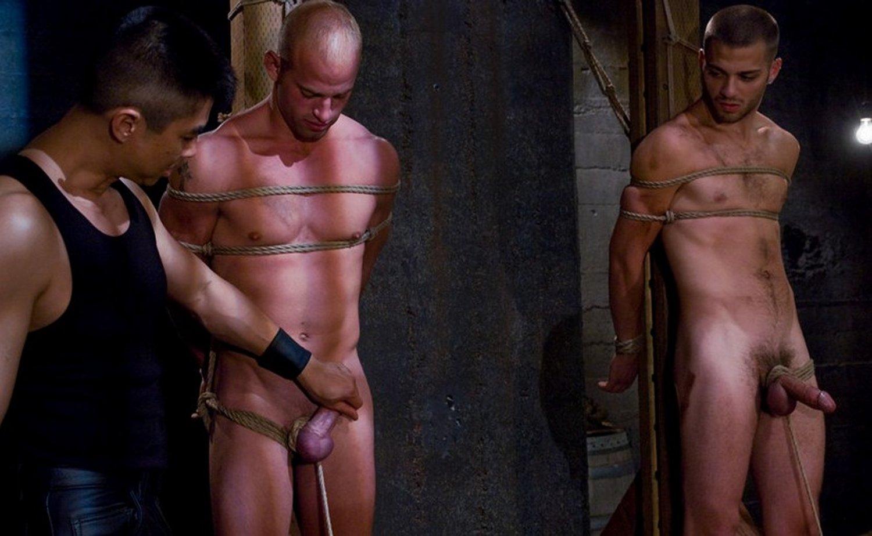 Naked slave boy