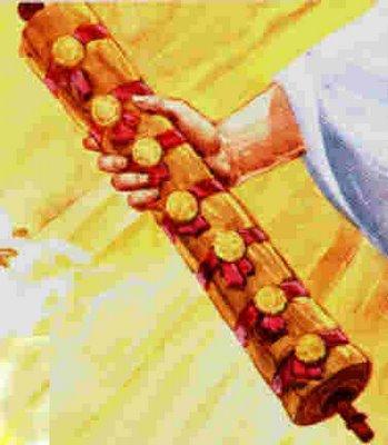 Hasil gambar untuk gambar gulungan kitab yang termeterai
