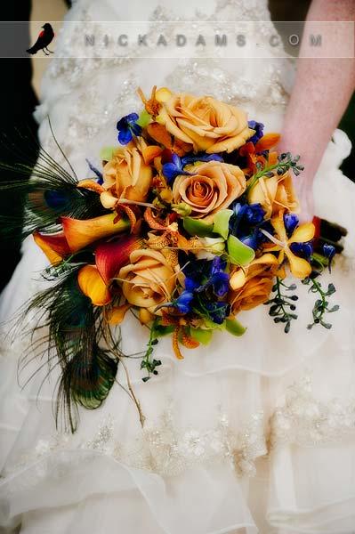 And Fall Blue Royal Colors Orange Wedding