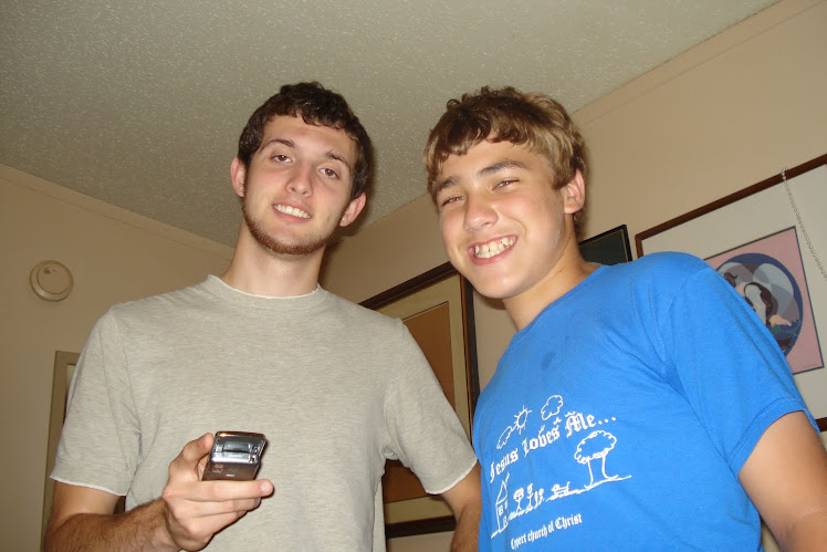 My two sons...Shane and Bryan