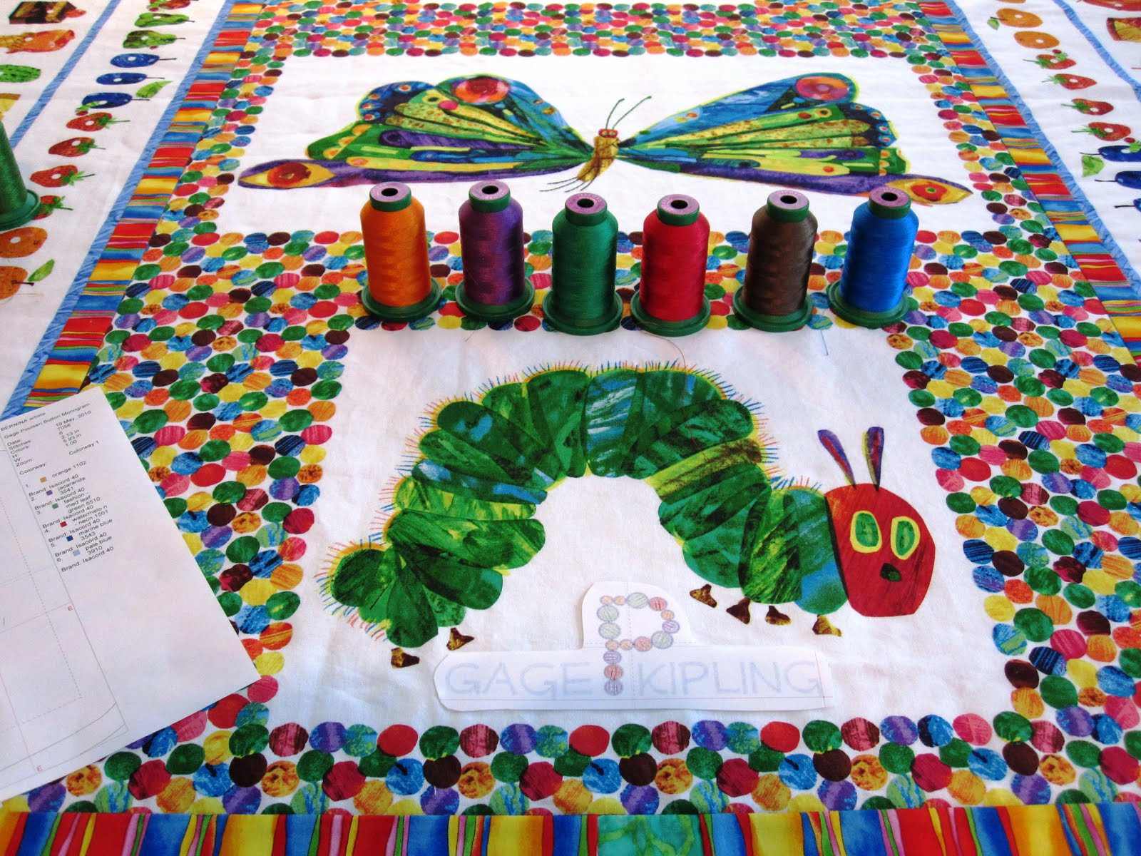Cheeky Cognoscenti Update The Very Hungry Caterpillar Blanky Quilt