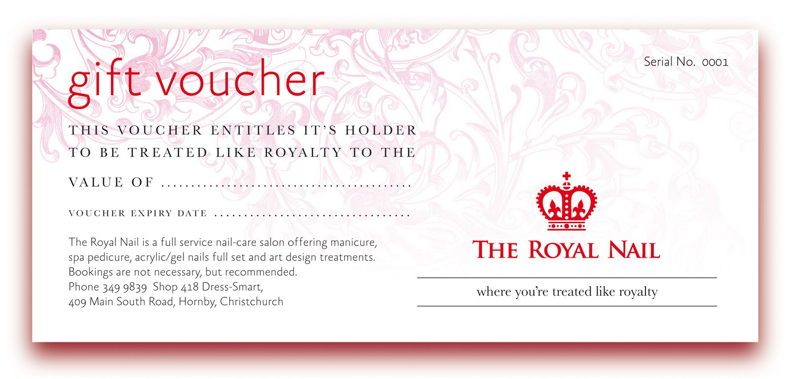 THE ROYAL NAIL: Treatments and Prices