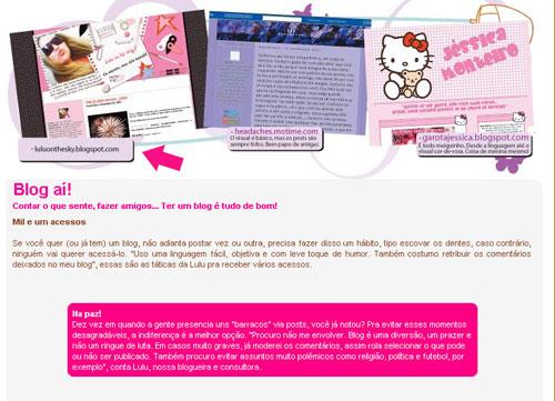Blog Lulu On The Sky é destaque na revista Toda Teen (foto: divulgação)
