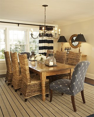 In your back pocket...: Head of the Table - Cottage Dining Room Tables For Your Homes