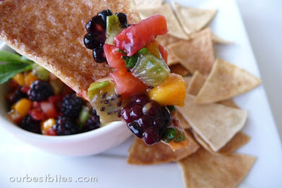 sweet fruit salsa and cinnamon chips