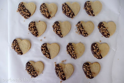 Chocolate Toffee Sugar Cookies on Parchment Paper