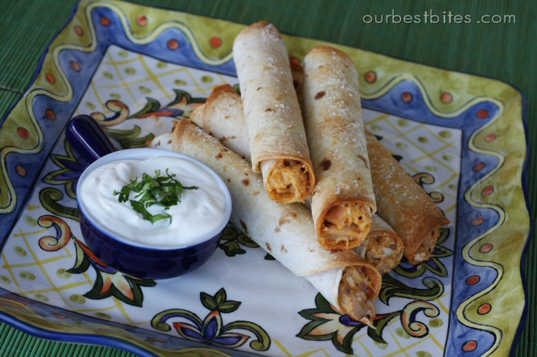 Baked Creamy Chicken Taquitos from Our Best Bites
