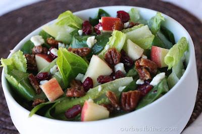candied walnut salad