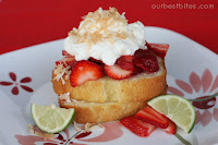 Strawberry-Lime Shortcakes with Coconut Cream