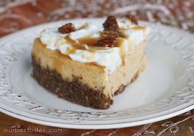 white chocolate pumpkin cheese cake