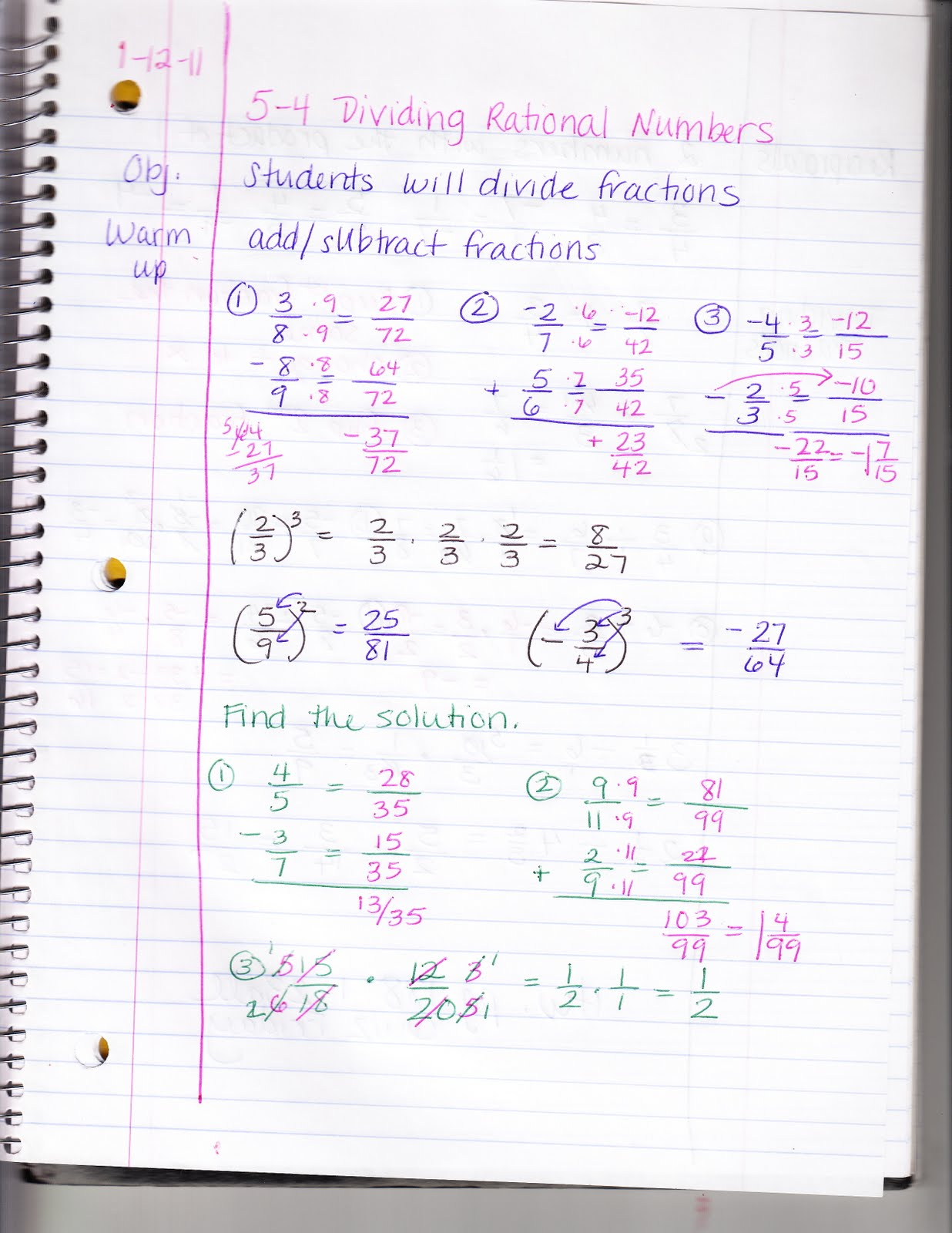 Ms Jean S Algebra Readiness Blog 5 4 Dividing Rational Numbers