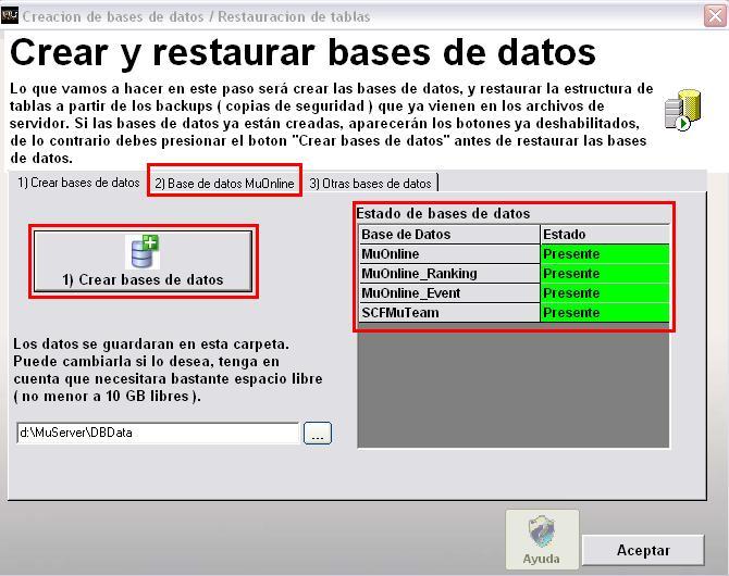 Creando base de datos